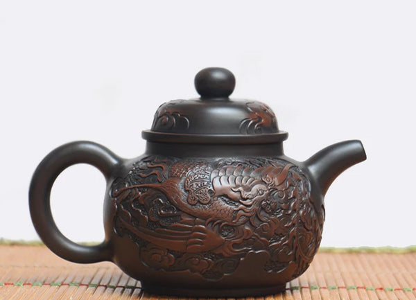 "Jian Shui Clay ""Phoenix"" Teapot by He Shang * 300ml"