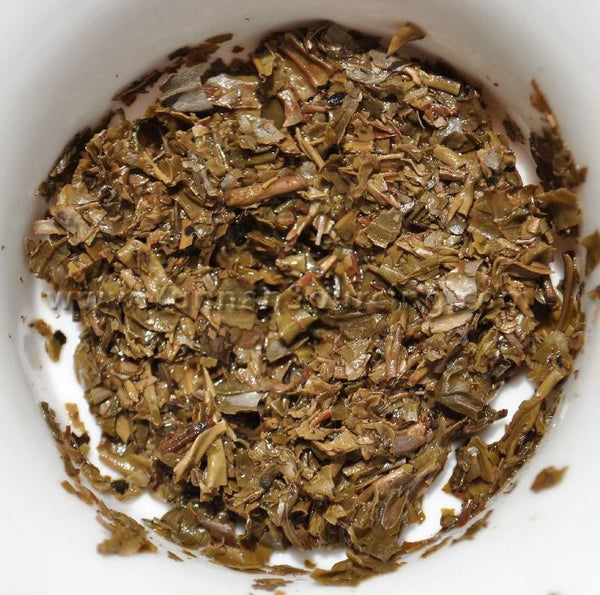 "2003 Yong Pin Hao ""Yi Wu Broken Leaf Mini Tuo"" Raw Pu-erh Tea"