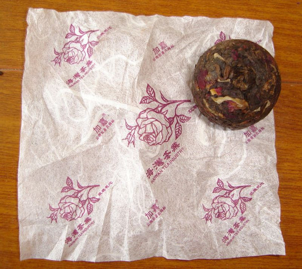 2007 Haiwan Ripe Pu-erh Tea with Rose Mini Tuo Cha