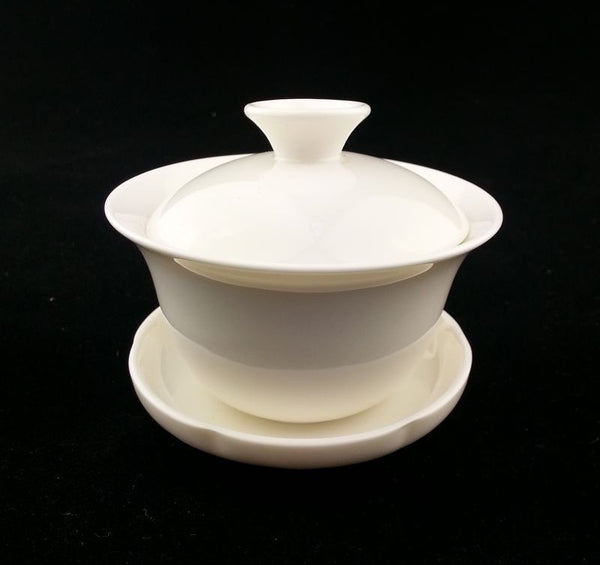 White Porcelain Gaiwan for Gong Fu Cha Brewing * 100ml