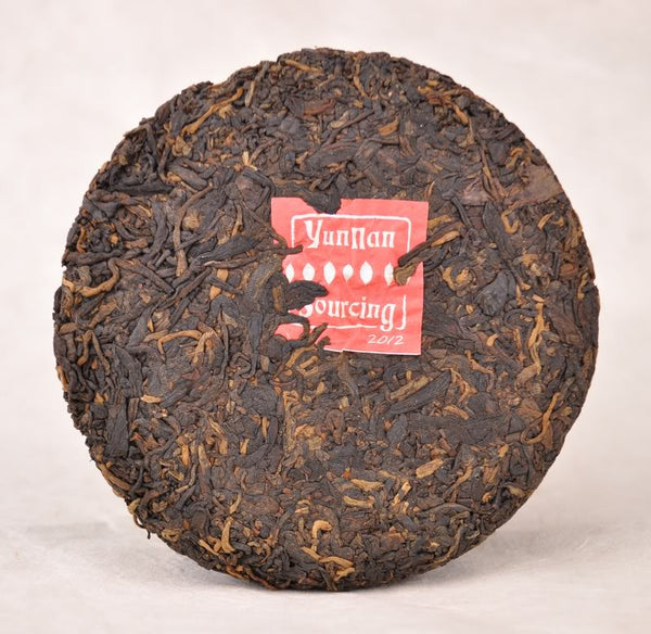 "2012 Yunnan Sourcing ""Dragon of Jing Mai"" Ripe Pu-erh Tea Mini Cake"