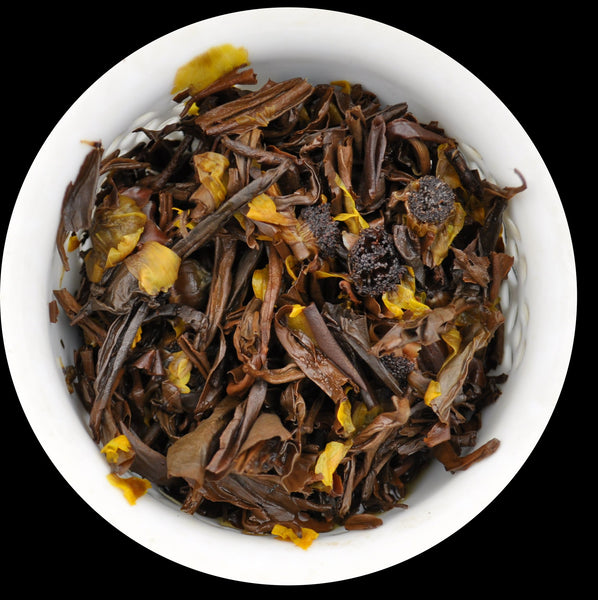 "2015 Yunnan Sourcing ""Ying Shan Hong"" Purple Black Tea and Snow Chrysanthemum"