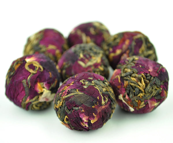 Yunnan Rose Flowers and Big Snow Mountain Black Tea Dragon Ball
