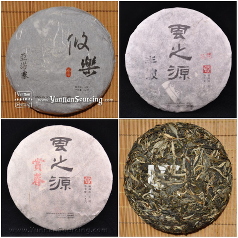 "Yunnan Sourcing Brand Raw Pu-erh Tea ""B-Sides"" Sampler- Part 3"