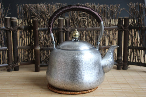 "Pure Silver 990 ""Chui Wen"" Boiler Kettle * 900ml"