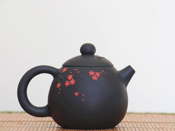 "Jian Shui Clay ""Plum Blossom"" Teapot by Li Wen Xue * 240ml"