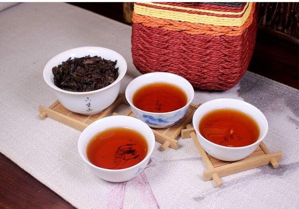 "Three Cranes ""2503"" Premium Liu Bao Tea in Basket"