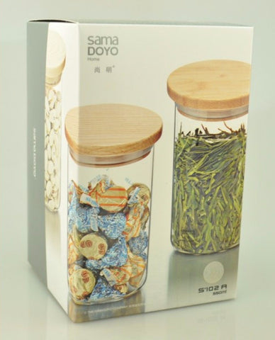 SAMA Airtight Glass Container for Storing Tea * S-102A 550ml