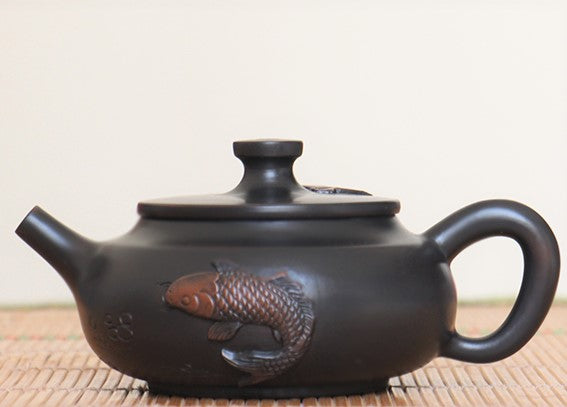 "Jian Shui Clay ""Lian Nian You Yu "" Teapot by Yang Zhen * 210ml"
