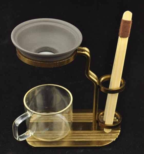 Metal Stand for holding Strainer and Tea Tools * Available with Optional Purple Clay Strainer and Bamboo Tongs