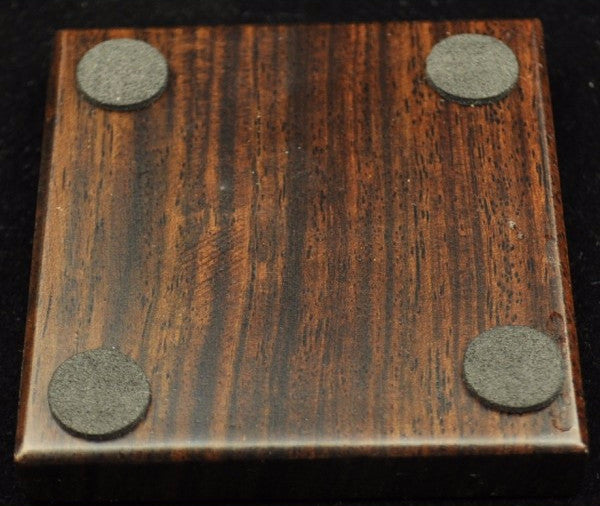 Black Wood Bamboo-Design Square Coaster for Placing Tea Cup