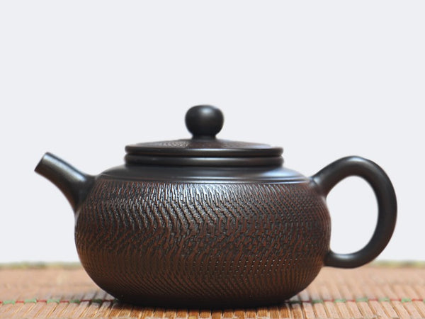 "Jian Shui Clay ""Tiao Dao 4#"" Teapot by Wang Yan Ping * 240ml"