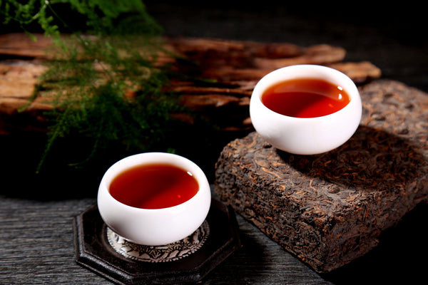 "1996 Wan Ding ""Golden Flowers"" Ripe Pu-erh Tea Brick"