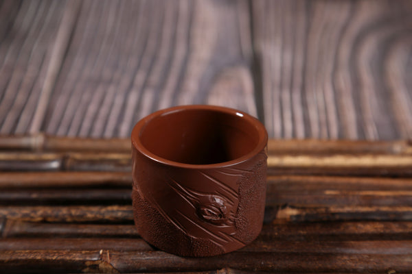 "Jian Shui Clay ""Tree Trunk"" Dragon Kiln Style Cup"