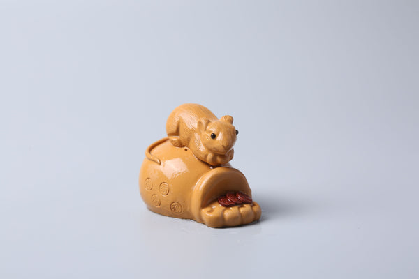 Lucky Rat Yixing Clay Tea Mascot