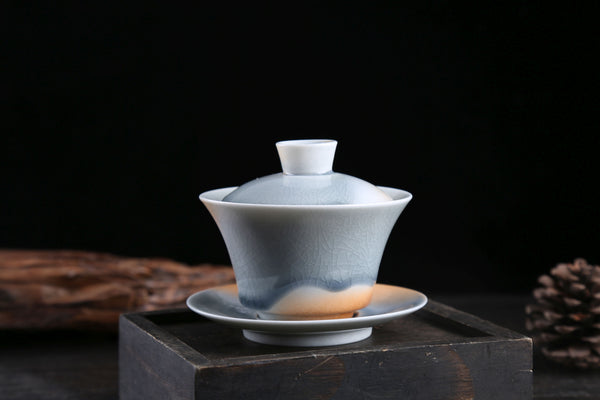 Desert and Sky Glazed Ceramic Gaiwan and Cups