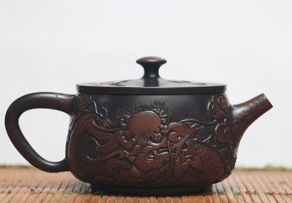 "Jian Shui Clay ""Dragon L51"" Teapot by He Shang"