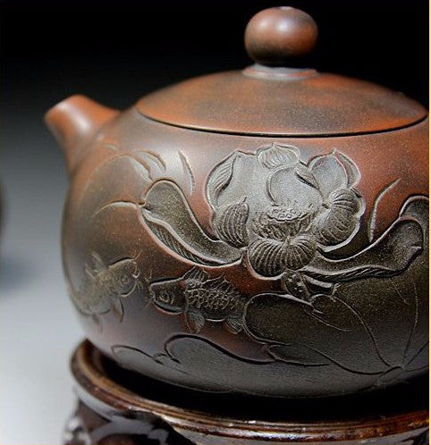 "Qin Zhou Clay Teapot ""Classic Xi Shi"" by Hu Ying Jia * 210ml - Yunnan Sourcing Tea Shop"
