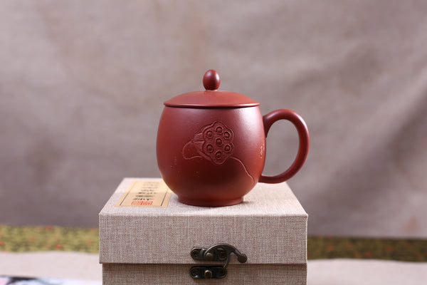 "Yixing Qing Shui Ni Clay ""Lotus Pod"" Brew Cup with Cover"