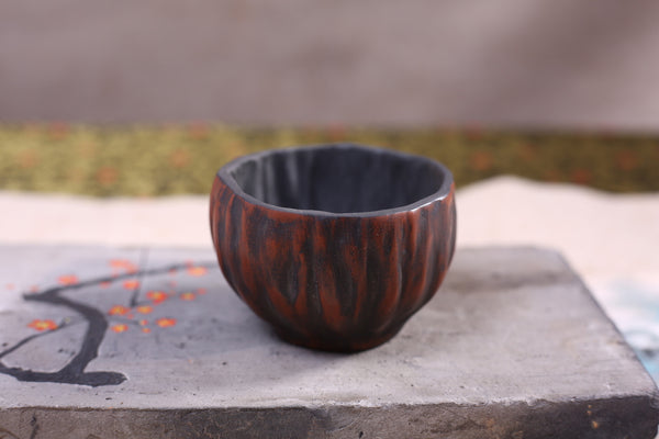 "Jian Shui ""Burnished Burl"" Dragon Kiln Style Cup"