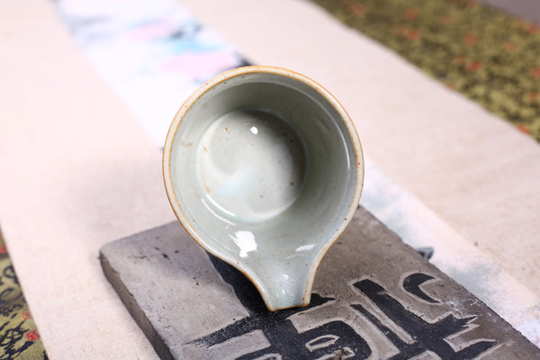 "Celadon ""Zen"" Crackle Glazed Cha Hai for Gong Fu Cha"