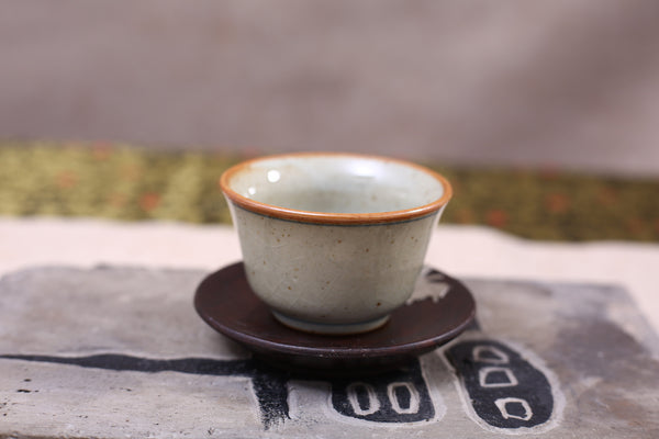 "Celadon ""Zen"" Crackle Glazed Cups for Gong Fu Cha * Set of 2"