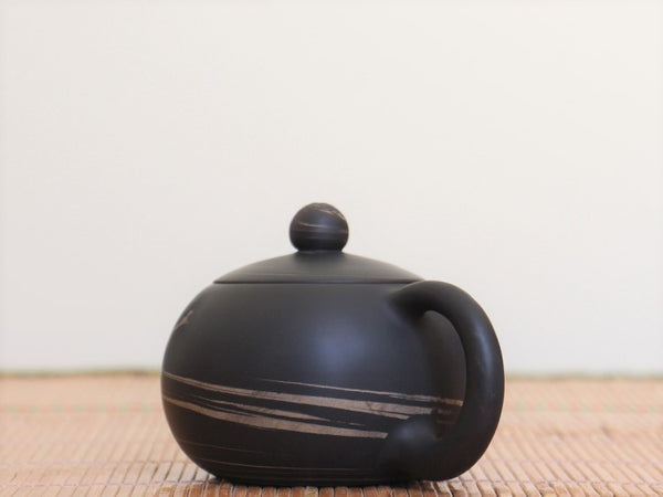 "Jian Shui Clay ""Black and White Swirl #X5"" Xi Shi Teapot by Yao Yun Chao * 220ml"
