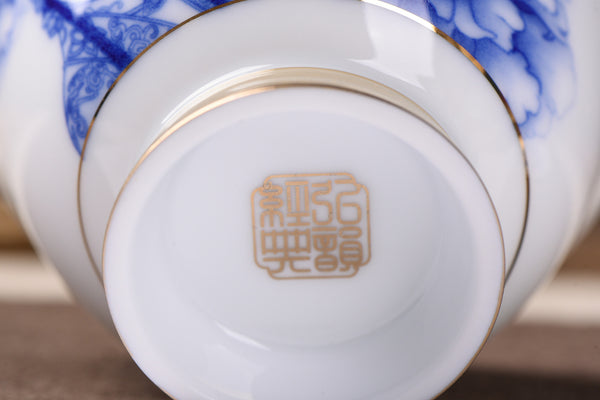 "Jingdezhen Porcelain ""Chinese Opera"" Gaiwan 170ml - Yunnan Sourcing Tea Shop"