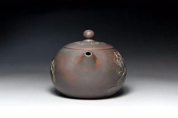 "Qin Zhou Clay Teapot ""Lian Nian You Xu Xi Shi"" by Hu Ying Jia * 210ml - Yunnan Sourcing Tea Shop"