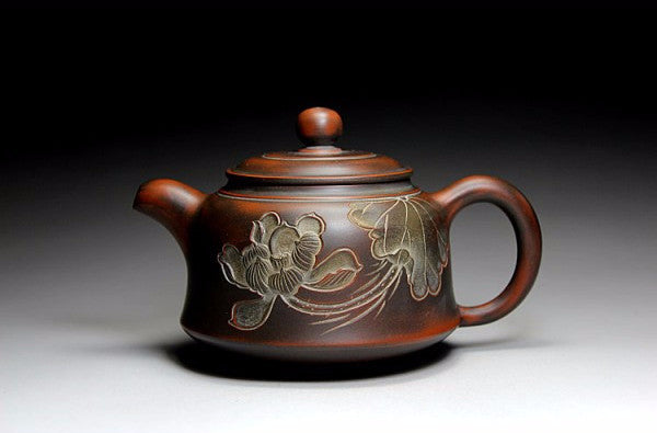 "Qin Zhou Clay Teapot "" Jin Zhong Hu "" by Hu Ying Jia * 200ml - Yunnan Sourcing Tea Shop"