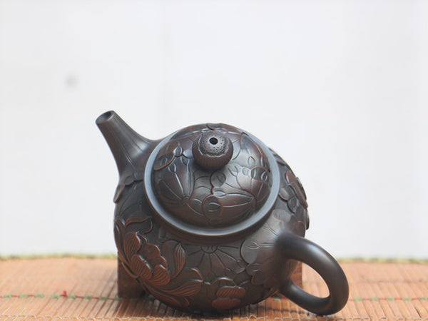 "Jian Shui Clay ""Rong Tian"" Teapot by He Shang * 220ml"