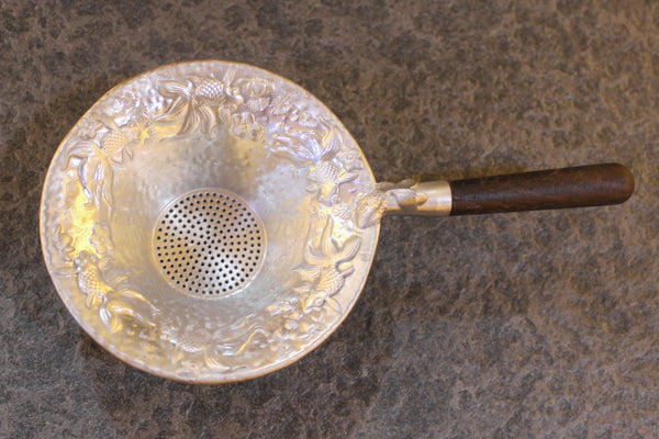 Goldfish Pond Tin Strainer with Hardwood Handle