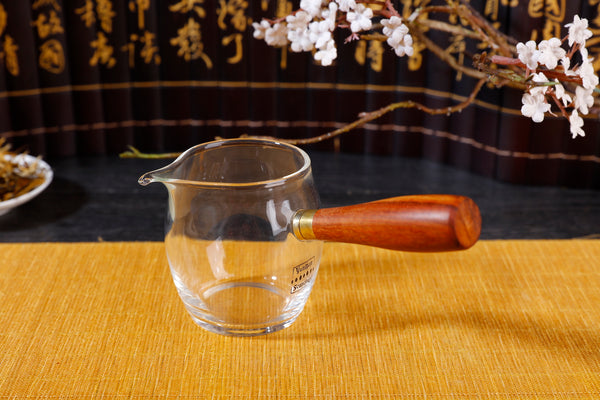 Wooden Handle Kyusu Cha Hai Pitcher with Yunnan Sourcing Logo