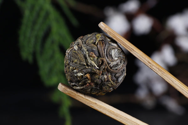 "Bang Dong ""San Ke Shu"" Single Grove Raw Purple Pu-erh Tea Dragon Balls"