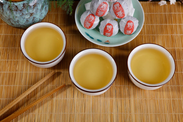"Na Han ""Ye Cha"" Single Grove Raw Pu-erh Tea Dragon Balls"