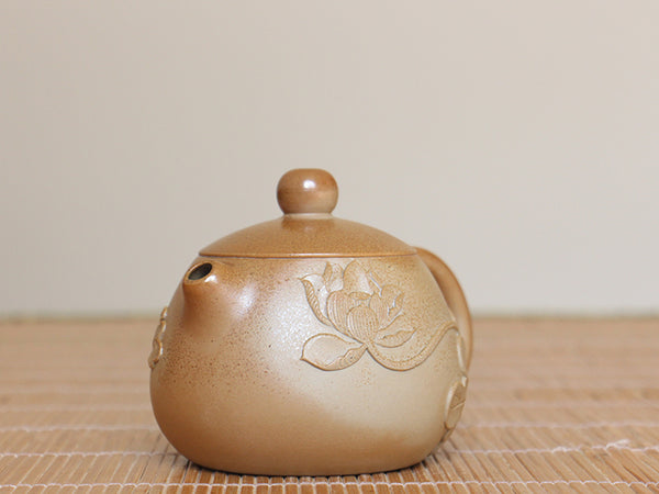"Jian Shui Wood-Fired Clay ""Lotus"" Teapot by Cai Xi Lin * 220ml"