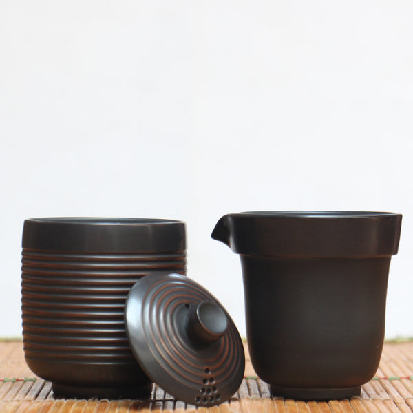 Jian Shui Clay Easy Gaiwan and Cup Set
