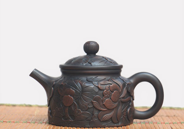 "Jian Shui Clay ""De Zhong"" Teapot by He Shang * 220ml"