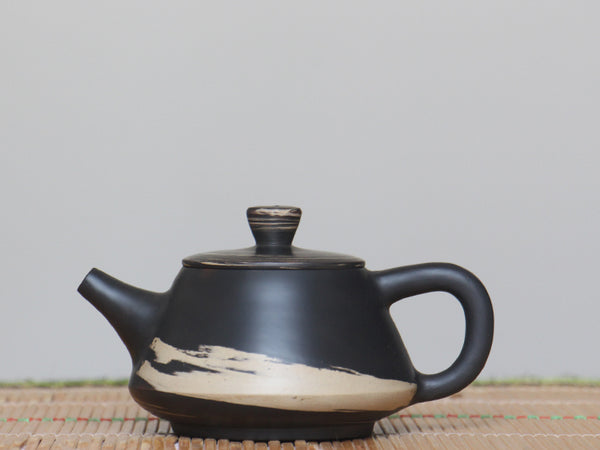 "Jian Shui Clay ""Black and White Swirl #S3"" Shi Piao Teapot by Li Wen Xue * 210ml"