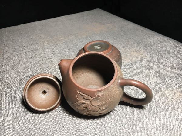 "Qin Zhou Clay Teapot ""Lotus Dragon Egg"" by Yang Xiao Song"