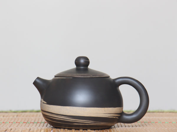 "Jian Shui Clay ""Black and White Swirl #X1"" Xi Shi Teapot by Li Wen Xue * 240ml"