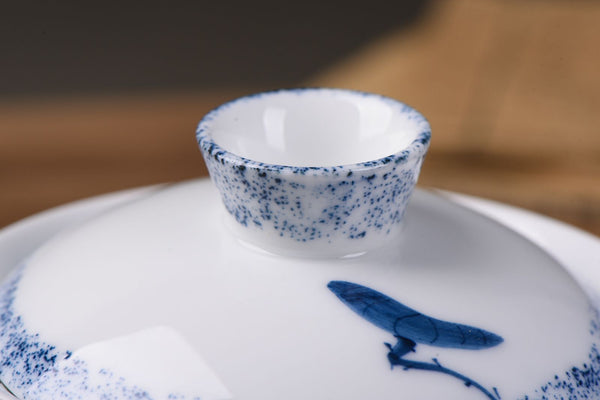 """Lotus Emerges from Water"" Porcelain Gaiwan * 180ml - Yunnan Sourcing Tea Shop"