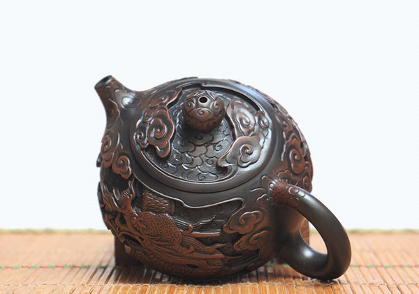 "Jian Shui Clay ""Dragon 3#"" Xi Shi Teapot by He Shang * 240ml"