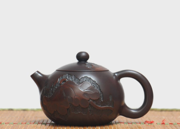 "Jian Shui Clay ""Lotus"" Xi Shi Teapot by He Shang * 180ml"