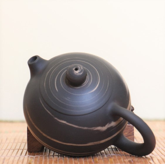 "Jian Shui Clay ""Black and White Swirl #X2"" Xi Shi Teapot by Yao Yun Chao * 240ml"