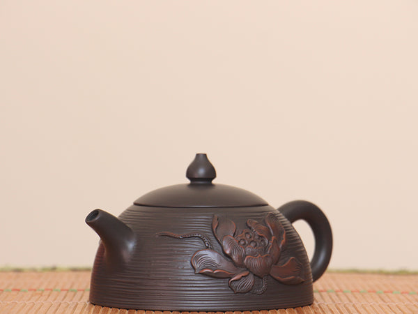 "Jian Shui Clay ""Qian Xian Lotus"" Teapot by Yang Zhen * 230ml"