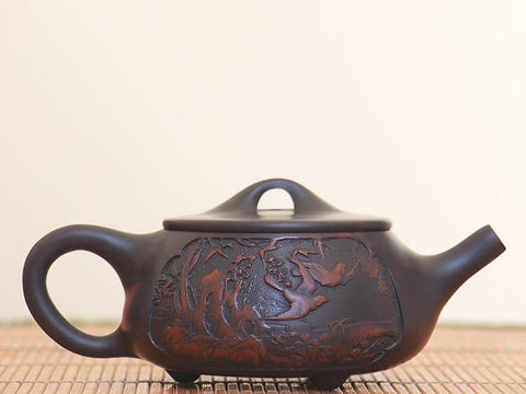 "Jian Shui Clay ""Jungle"" Shi Piao Teapot by Huang Shui Fa * 200ml"