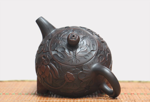 "Jian Shui Clay ""Ban Yue"" Teapot by He Shang * 160ml"