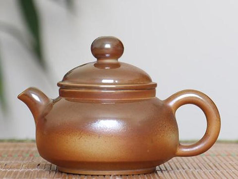 "Jian Shui Wood-Fired Clay ""Bao Zi Hu"" Teapot by Cai Xi Lin * 210ml"