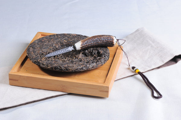 Deer Horn Handle Steel Pryer for Pu-erh Tea